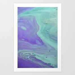 Blue Purple Flow - Fluid Acrylic Abstract Painting Art Print