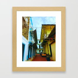 Colorful Casco Framed Art Print