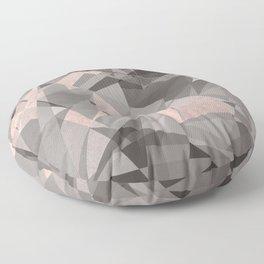 Shattered - Rose Gold Floor Pillow