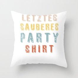 Letztes Sauberes Party Design Retro Vintage Throw Pillow