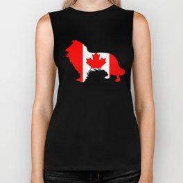 Canada Border Collie Biker Tank