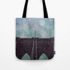 Snowy Brooklyn Tote Bag