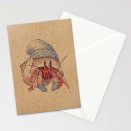 Winter Hermit Crab Stationery Cards