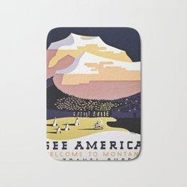See America Montana travel ad Bath Mat