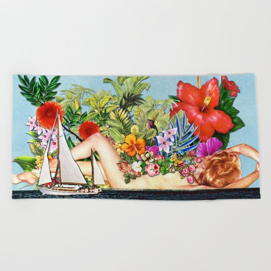 Siren Island Beach Towel