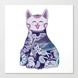 Touchy Cat Canvas Print