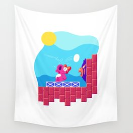 Teeny Tiny Worlds - Super Mario Bros. 2: Birdo Wall Tapestry