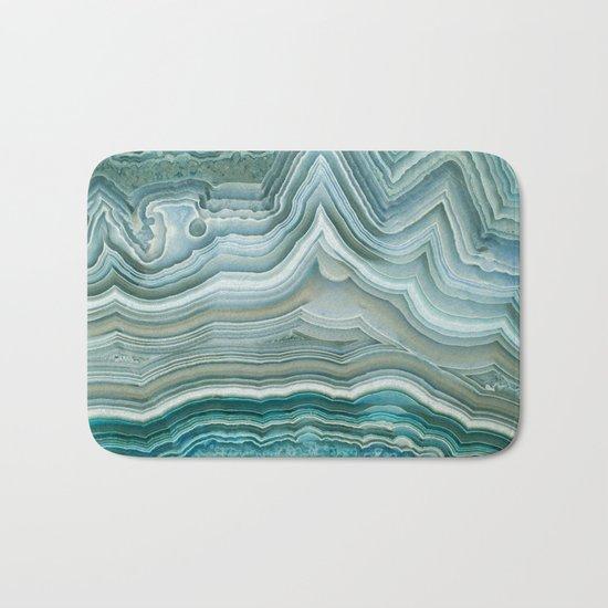 Agate Crystal Blue Bath Mat