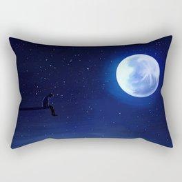 Jimin Serendipity Talking to the Moon Rectangular Pillow