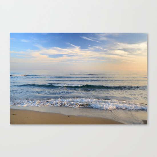 """Serenity sea"". Waves. At sunset Canvas Print"