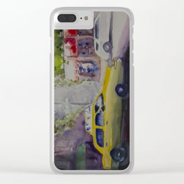 NYC TAXI Clear iPhone Case