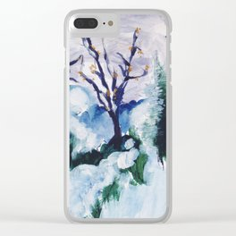 Winter Cheer Clear iPhone Case