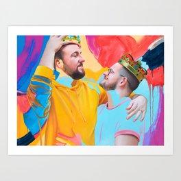 Simon & BJ Art Print