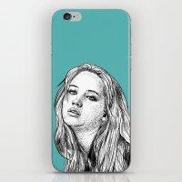 jennifer lawrence iPhone & iPod Skins featuring Jennifer Lawrence by Sharin Yofitasari
