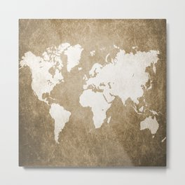 Design 56 world map Metal Print