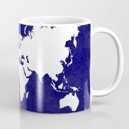 The world awaits in navy blue Coffee Mug