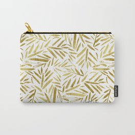 Glam Gold Leaves Carry-All Pouch