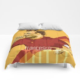 Totti AS Roma / Serie A Superstar Football Player Comforters