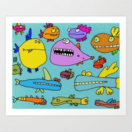 Funky Fish of the Outer Banks Art Print