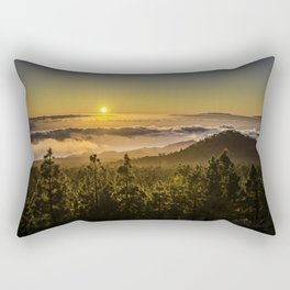 Sunset at 1800m Rectangular Pillow