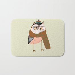 Owls Love Scarfs.  Bath Mat