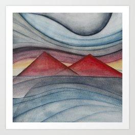 Geometric landscapes 06 Art Print