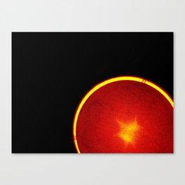 Neon Grapefruit Canvas Print