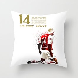 Thierry henry - The invincibles Throw Pillow