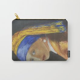 Girl with a Pear Earring Pastel, after Vermeer Carry-All Pouch