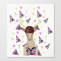 kris tate Canvas Prints featuring LOLLIPOP WAVVES By Belen Segarra , Elena Mir, Kris Tate  by Serpentine