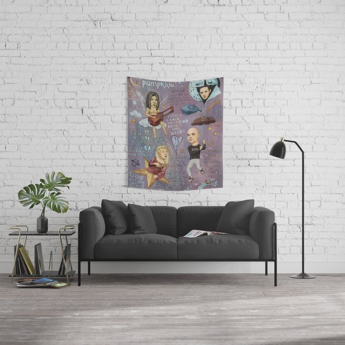 The Pumpkins - Spaceboy's Mellon Collie Dream Wall Tapestry