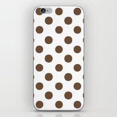 Polka Dots (Coffee/White) iPhone & iPod Skin