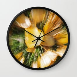 Autumn Leaves Abstract 5 Wall Clock