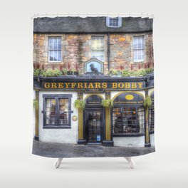 Greyfriars Bobby Pub edinburgh Shower Curtain