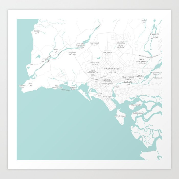 Minimalist Modern Map of Karachi, stan 8 Art Print by asarstudios on lahore world map, moscow on world map, paris world map, shanghai on world map, mecca world map, istanbul world map, jerusalem world map, kolkata world map, jakarta world map, cairo world map, pyongyang world map, seoul world map, thar desert world map, buenos aires world map, ulaanbaatar world map, hyderabad world map, taipei world map, colombo world map, damascus on world map, kathmandu world map,
