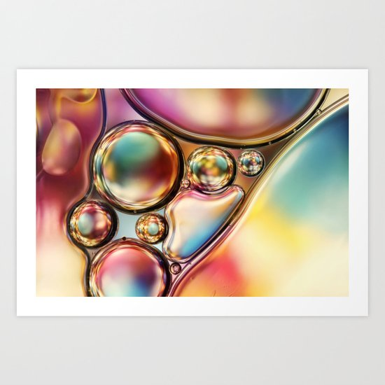 Bright & Bold Bubble Abstract Art Print