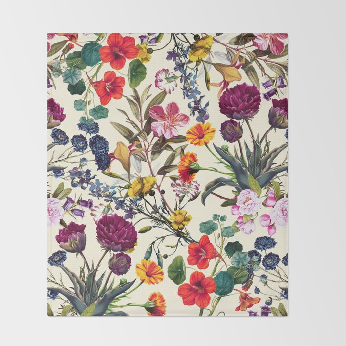 Magical Garden V Throw Blanket