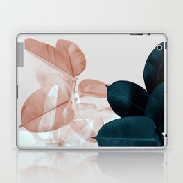 Blush & Blue Leaves Laptop & iPad Skin