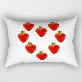 strawberry heart Rectangular Pillow