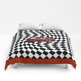 Red Car Victory Lap Comforters