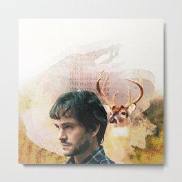 Hannibal Will Graham Graphic Metal Print