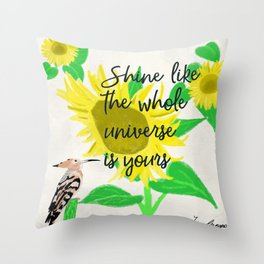 Shine sun flower Throw Pillow