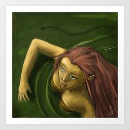 Female efl in water Art Print