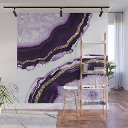 Agate Glitter Glam #13 #gem #decor #art #society6 Wall Mural