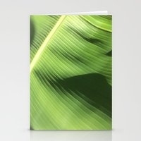 banana leaf Stationery Cards featuring Banana Leaf by Glenn Designs