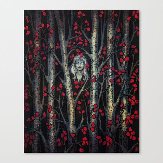 Night so Dark, Where are you? Canvas Print