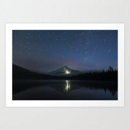 Lights on Mount Hood Art Print
