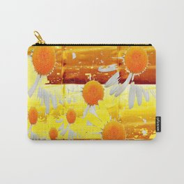 golden daisies pattern Carry-All Pouch