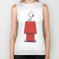 snoopy Biker Tanks featuring Snoopy by Simple Touch Apparel