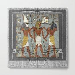 egyptiannewsprint Metal Print